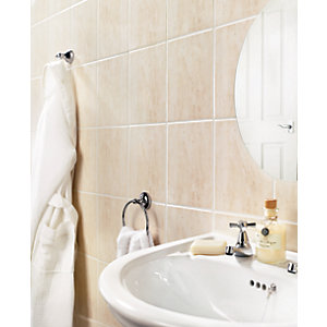 Wickes Florina Beige Gloss Ceramic Wall Tile 200 x 250mm