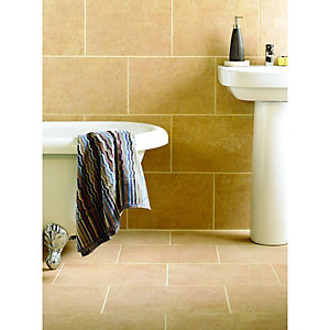 Wickes Capri Caramel Matt Porcelain Wall & Floor Tile 300x450mm