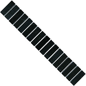 Wickes Black Matt Travertine Border Tile 48x29mm