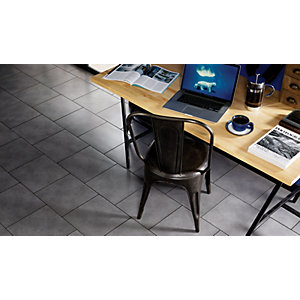 Wickes Anthracite Dark Grey Matt Floor Tile 330 X 330MM