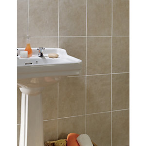 Wickes Vienna Taupe Matt Ceramic Wall Tile 250x330mm