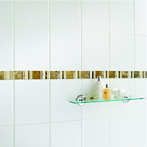 Wickes Midas Beige Natural Stone Border Tile 48 x 296mm