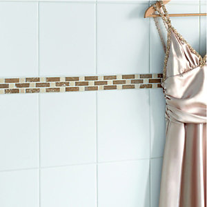 Wickes Rome Brown Natural Stone Border Tile 50x270mm