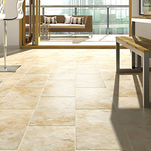 Wickes Riga Beige Matt Porcelain Floor Tile 300x600mm