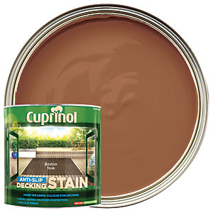 Cuprinol Anti-slip Deck Stain Boston Teak 2.5L