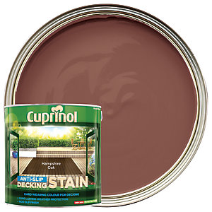 Cuprinol Anti-slip Deck Stain Hampshire Oak 2.5L