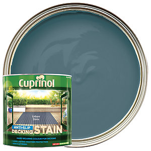 Cuprinol Anti-slip Deck Stain Urban Slate 2.5L
