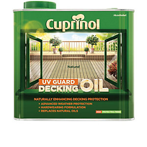 Cuprinol Uv Guard Decking Oil Natural 2.5L