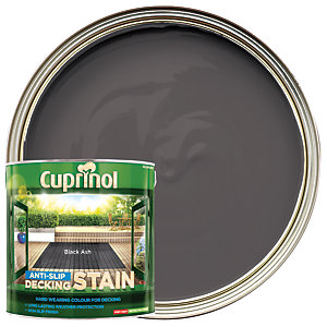 Cuprinol Anti-slip Deck Stain Black Ash 2.5L