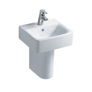 Ideal Standard Concept Cube 40cm Handrinse Washbasin, 1 Taphole with Overflow White E803101