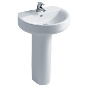 Ideal Standard Concept Sphere 55cm Washbasin, 1 Taphole with Overflow White E786201