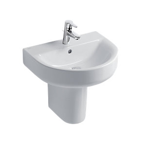 Ideal Standard Concept Arc 55cm Washbasin, 1 Taphole with Overflow White E785201