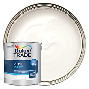 Dulux Trade Vinyl Matt Emulsion Paint White 2.5L