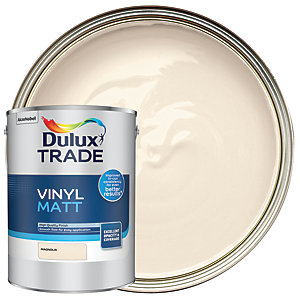 Dulux Trade Vinyl Matt Emulsion Paint Magnolia 5L