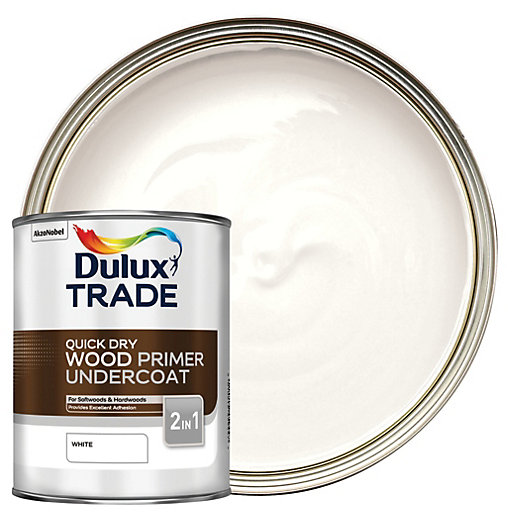 Dulux Trade Quick Dry Wood Primer Amp Undercoat 1l Wickes