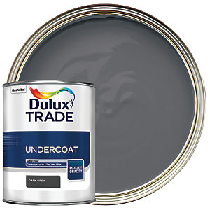 Dulux Trade Undercoat Paint Dark Grey 1L