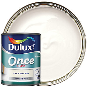 Dulux Once Gloss Pure Brilliant White 2.5L