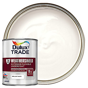 Dulux Trade Weathershield Exterior Flexible Undercoat Paint Brilliant White 1L