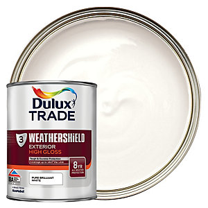 Dulux Trade Weathershield Gloss Pure Brilliant White 1L