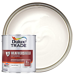 Dulux Trade Weathershield Gloss Pure Brilliant White 2.5L