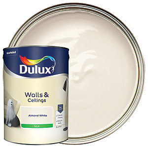 Dulux Silk Emulsion Paint Almond White 5L