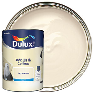 Dulux Natural Hints Matt Emulsion Paint Orchid White 5L