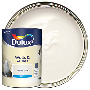 Dulux Natural Hints Matt Emulsion Paint Jasmine White 5L