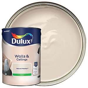 Dulux Silk Emulsion Paint Natural Hessian 5L