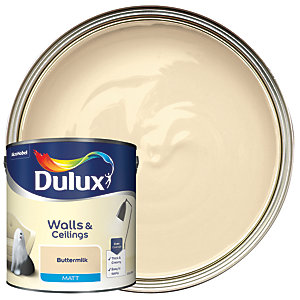 Dulux Matt Emulsion Paint Buttermilk 2.5L