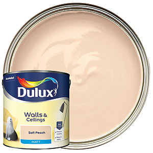 Dulux Matt Emulsion Paint Soft Peach 2.5L