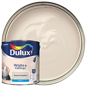 Dulux Matt Emulsion Paint Natural Hessian 2.5L