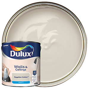 Dulux Matt Emulsion Paint Egyptian Cotton 2.5L