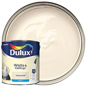 Dulux Matt Emulsion Paint Ivory Lace 2.5L