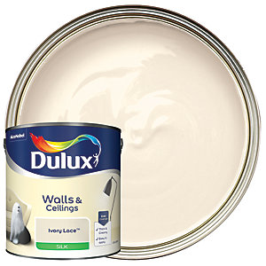 Dulux Silk Emulsion Paint Ivory Lace 2.5L