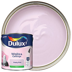 Dulux Silk Emulsion Paint Pretty Pink 2.5L