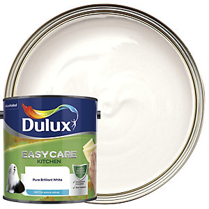 Dulux Kitchen+ Matt Emulsion Paint Pure Brilliant White 2.5L