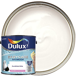 Dulux Bathroom+ Soft Sheen Emulsion Paint Pure Brilliant White 2.5L