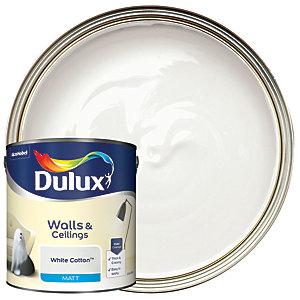 Dulux Matt Emulsion Paint White Cotton 2.5L