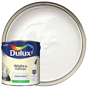 Dulux Silk Emulsion Paint White Cotton 2.5L