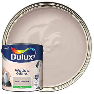 Dulux Silk Emulsion Paint Malt Chocolate 2.5L