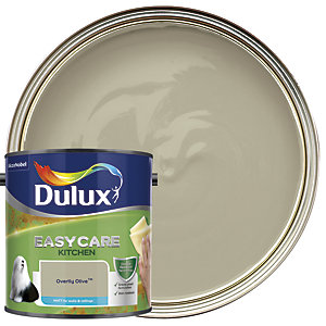 Dulux Kitchen+ Matt Emulsion Paint Overtly Olive 2.5L