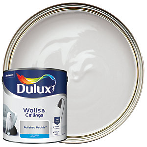 Dulux Matt Emulsion Paint Polished Pebble 2.5L