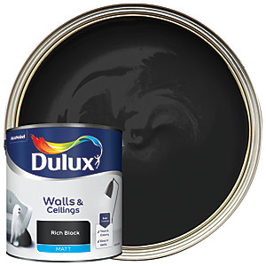 Dulux Matt Emulsion Paint Rich Black 2.5L