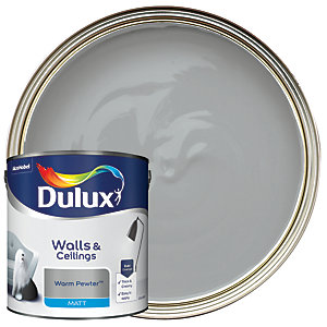 Dulux Matt Emulsion Paint Warm Pewter 2.5L