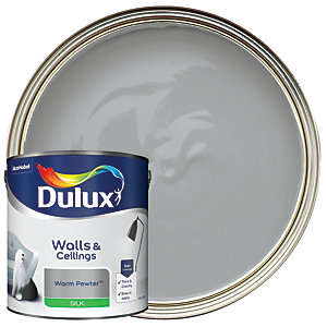 Dulux Silk Emulsion Paint Warm Pewter 2.5L