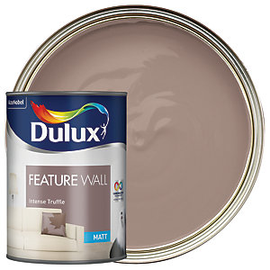 Dulux Feature Wall Emulsion Paint Intense Truffle 1.25L
