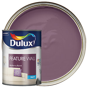 Dulux Feature Wall Matt Emulsion Paint Mulberry Burst 1.25L