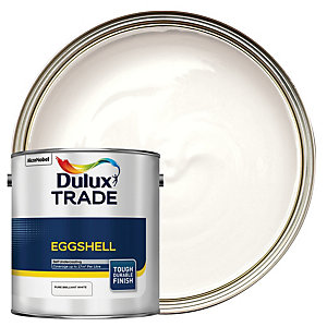 Dulux Trade Eggshell Paint Pure Brilliant White 2.5L