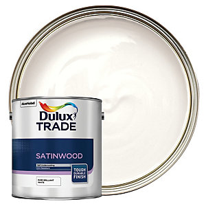 Dulux Trade Satinwood Paint Pure Brilliant White 2.5L