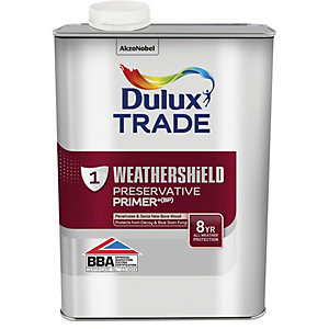 Dulux Trade Weathershield Exterior Preservative Primer+ (BP) 1L